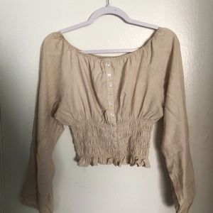 Off or on shoulder blouse